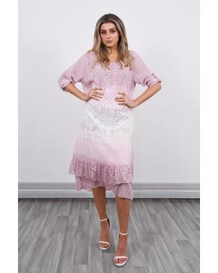 21113 The dye lace dress