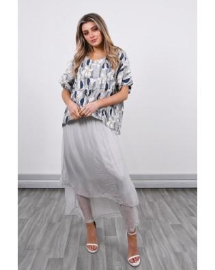 8251-2 Linen & Silk Dress